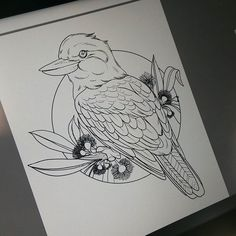 Kookaburra available to be tattooed #straya
