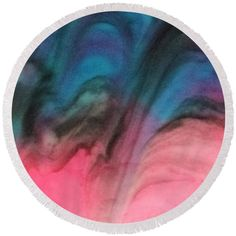Resin Round Beach Towel featuring the painting Sweep by Tamara Morrissette