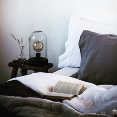 Saturday lie-in / stonewashed pure linen from Piglet in Bed. - Niki Brantmark, My Scandinavian Home.