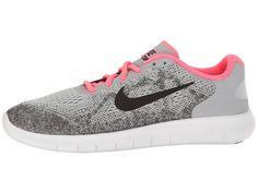c2cd079d85aac Nike Kids Free RN 2017 (Big Kid) Girls Shoes Wolf Grey Black Racer Pink  White