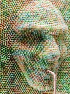 Composed of straws