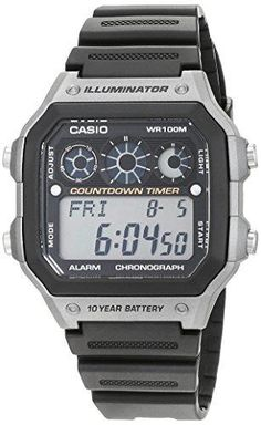 b39bf576b87a Casio Men s Quartz Watch with Silver Dial Analogue - Digital Display and  Black R