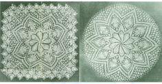 Beautiful Shawl 3 Doilies Knitting Pattern Oak Leaf by dianeh5091