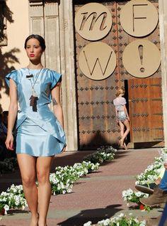 Moda retro-futurista y tendencias culturales en Murcia Fashion Week #moda #murcia #fashionweek #diseñadores