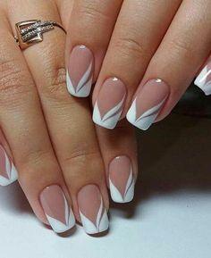 Nail Art Designs, French Tip Nail Designs, Simple Nail Designs, Nails Design, Pedicure Designs, French Nails, French Pedicure, French Tip Manicure, French Polish