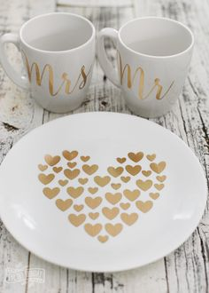 DIY Gold Foil Heart