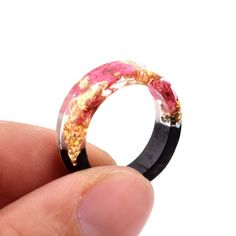Cute Rings, Unique Rings, Unique Jewelry, Fine Jewelry, Wood Flowers, Unique Flowers, Resin Ring, Resin Jewelry, Jewlery