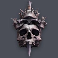 Skull Reference, Figure Drawing Reference, Creepy Tattoos, Skull Tattoos, Dark Fantasy Art, Dark Art, Skull Island, Bild Tattoos, Angel Statues