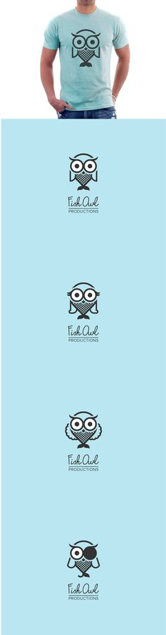 Logo for Fish Owl Productions by Addis Kidan Tegene, via Behance