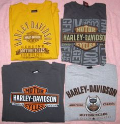 eb7c18b334aa Lot of 4 Harley Davidson T Shirts Size 3XL Fort Thunder Blue Springs 105  years