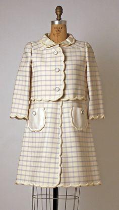 Ensemble André Courrèges (French, born 1923) Date: 1966–67 Culture: French Medium: wool, cotton