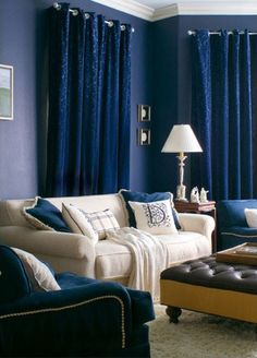 Paint Color Portfolio: Navy Blue Living Rooms | Apartment Therapy
