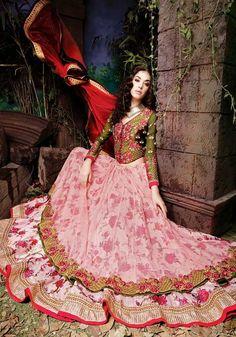 Floral Baby Pink Designer 3 pc Lehnga Choli