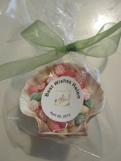 Party favor for a lighthouse/beach themed bridal shower