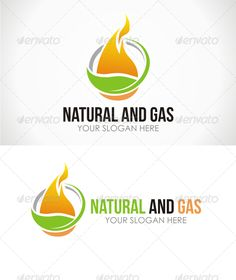 Natural and Gas Logo #nature #gas Download : https://graphicriver.net/item/natural-and-gas-logo/5729206?ref=pxcr