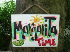 Ttopical Tiki Drink Beach Bar MARGARITA Sign by FRANSCOUNTRYNY,