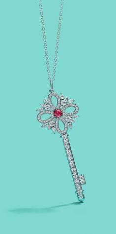 02e61abc27fd Silver Pendant Necklace  TiffanyJewelry Tiffany Key Necklace