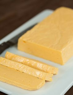 Homemade Velveeta Cheese by Brown Eyed Baker http://www.browneyedbaker.com/diy-homemade-velveeta-cheese-recipe/
