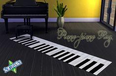 Saratella's Place: Sims 4 - Piano Piano Rug