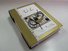 caderno scrapbook com encadernação longstitch bodas de ouro #tkscrapbook
