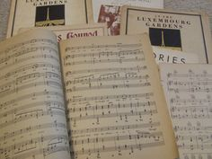 Sheet Music, Vintage Sheet Music, Music Sheets for Crafts, Music Room Decor, Vintage Sheet Music,1925-35, My Buddy, Memories, Green Pastures by BeautyMeetsTheEye on Etsy