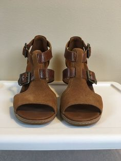 c8ff7330b Timberland Earthkeepers Strafford Womens Brown Double Buckle Sandal Shoes  size 7  fashion  clothing