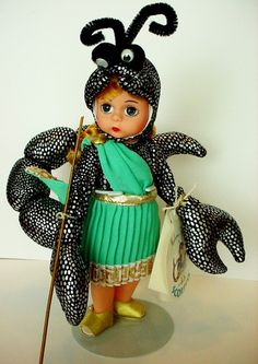Madame Alexander Doll Puerto Rico 24120 NIB International Collection Condition is New. Scorpio Girl, Scorpio Zodiac, Madame Alexander Dolls, Masks, Reading, Collection, Reading Books, Face Masks