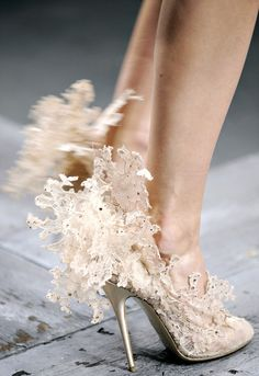 Not for a wedding, I would wear these to the Nutcracker ballet.... & be a snowflake..