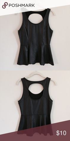 Faux Leather Peplum Top [ comment below with questions • offers accepted ] Kirra Tops Tank Tops