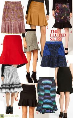 Fall '12 Trend: Flipping For The Fluted SkirtSecond City Style | Second City Style