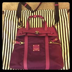 I just added this to my closet on Poshmark: Like New Dk Pink Henri Bendel…