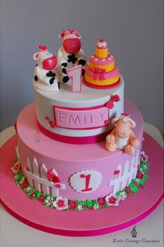 Pink farm princess cake