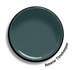 Resene Timekeeper is a complex blend of blue and green, distinguished by depth and conservative in ambiance. Try Resene Timekeeper with taupe browns, sweet whiskey neutrals and pale grey blues, such as Resene Coffee Break, Resene Nougat and Resene Dusted Blue. From the Resene The Range fashion colours. Latest trends available from www.resene.com. Try a Resene testpot or view a physical sample at your Resene ColorShop or Reseller before making your final colour choice. House Paint Exterior, Exterior Paint Colors, Paint Colors For Home, House Colors, Paint Colours, Colours That Go With Grey, Resene Colours, Colour Schemes, Colour Trends