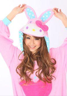 Kigurumi Shop | Hello Kitty Bunny Pink Kigurumi - Animal Costumes & Pajamas by Sazac
