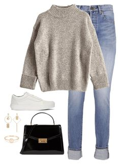 """Untitled #4363"" by magsmccray ❤ liked on Polyvore featuring Yves Saint Laurent, Vans and Tory Burch"