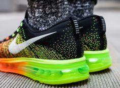 Nike Flyknit Air Max: Atomic Orange/Volt/Electric Green/Black
