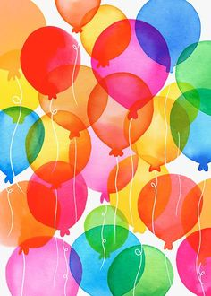 Margaret Berg Art: Balloon+Rainbow+
