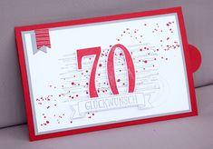 Herzlich Willkommen beim Papierfräulein: Stampin Up, Ziehkarte, 70. Geburtstag, Reise Gutschein