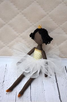 Prinses Pop pop pop van textiel decoratieve pop pop door NilaDolss