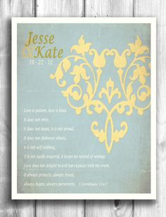 Personalized 1st Paper Anniversary Gift by Happy Letter Shop