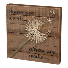 Primitives by Kathy String Art Box Sign, Dandelion-Wishes - Excellent quality very fair price.This Primitives by Kathy that is ranked 74 String Art Diy, String Crafts, Anchor String Art, String Art Heart, String Art Patterns, String Art Tutorials, Doily Patterns, Dress Patterns, Craft Night