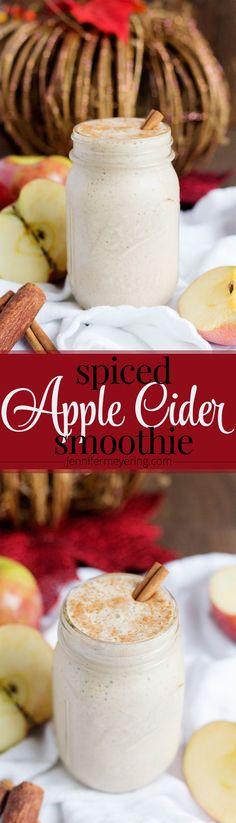 Spiced Apple Cider Smoothie - JenniferMeyering.com