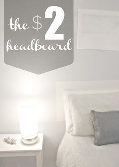 the rikrak studio: the amazing 2 dollar DIY bed headboard project!
