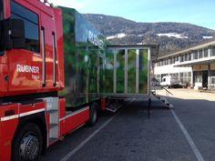 Il Rubner Truck pronto ad accogliere il press tour per ilustrare le tappe e gli eventi del Rubner Haus Home Tour