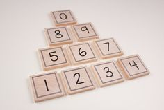 Numbers Magnets set of 10 by CreationsbyCarolLynn on Etsy