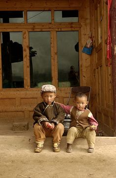 tibetan kids at home