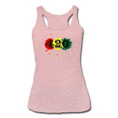 420 Women's Tri-Blend Racerback Tank - heather dusty rose / S