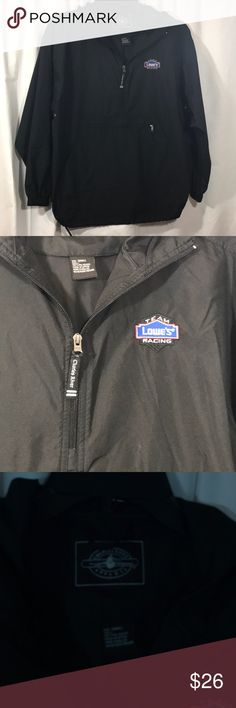 Lowes Team Racing Pullover 💯 polyester. Like new. Has hoodie. Perfect for rainy weather. 2️⃣3️⃣ Charles River Apparel Jackets & Coats Windbreakers