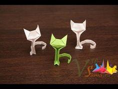 #26 Origami Cat by Richard Wang -Yakomoga Origami Cat of the Dollar (money) tutorial - YouTube