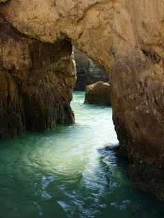 caves and rock formations on the algarve coast in portugal